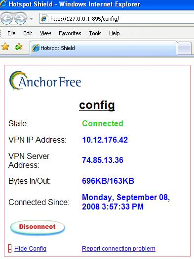 Hotspot Shield config